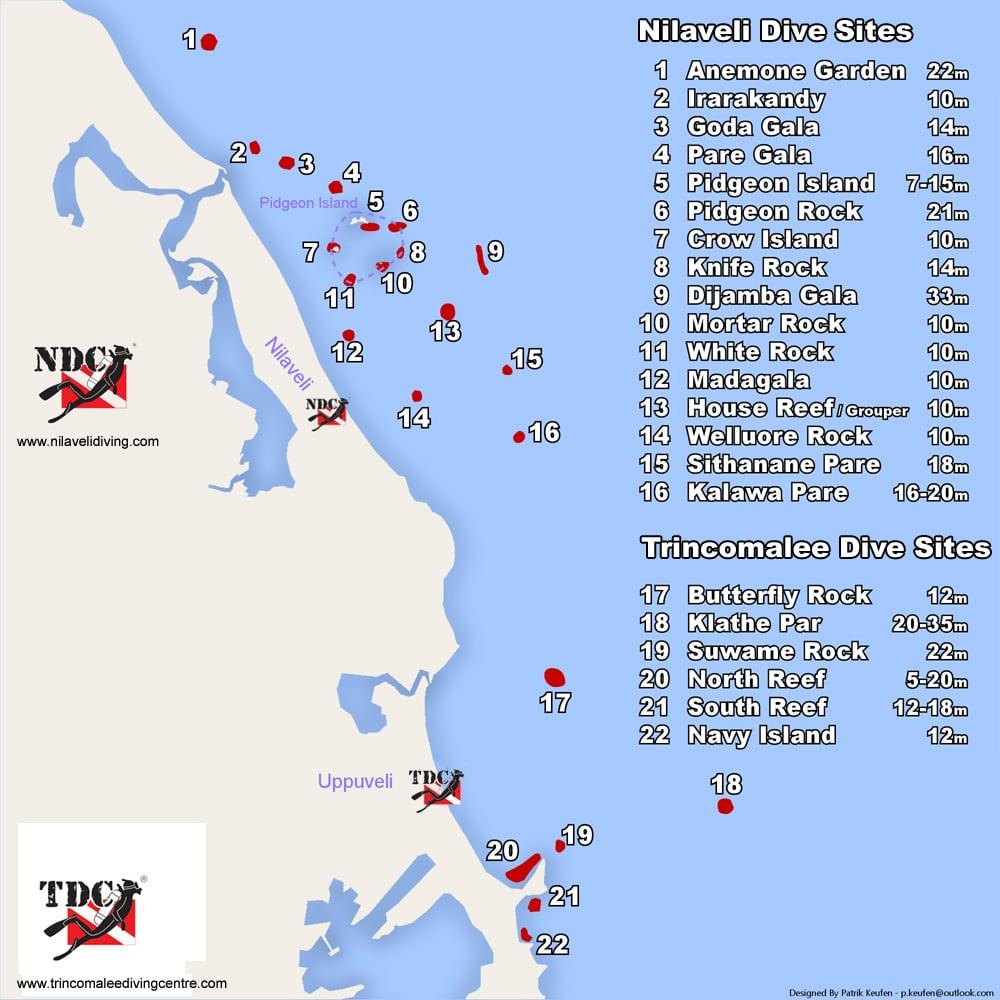 Dive Sites in Trincomalee and Nilaveli